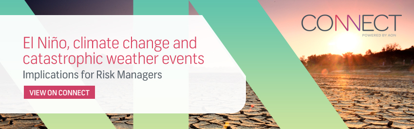 El Nino, climate change and catasthrophic weather events. Implications for Risk Managers